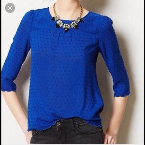 Maeve 3/4 sleeve blue top